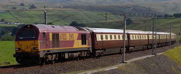 67025 Western Star, 1Z20, Greenholme, 16 August 2008 - 1447     The Northern Belle climbs Shap en route from Victoria to Edinburgh for a weekend in Scotland.  67005 Queen's Messenger was dead on the rear.