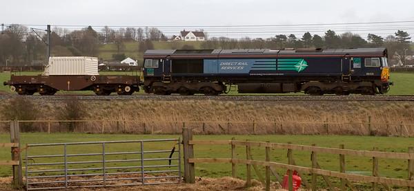 66428, 6C51, Hest Bank, 26 February 2008 - 1421    The first Heysham flask train of 2008.