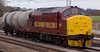 37401, 6F31, Acton Bridge, 5 March 2008 - 1350    The weekly 1210 Stoke Marcroft - Warrington Arpley wagons off repair.