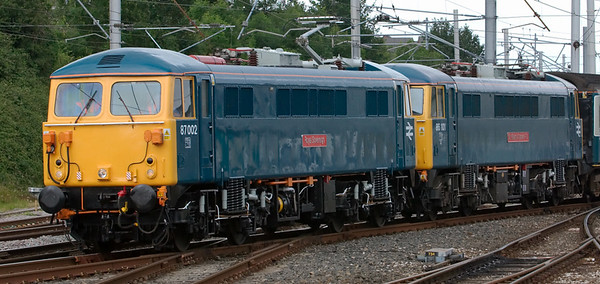 887002 Royal Sovereign & 86101 Sir William A Stanier FRS, 1Z87, Carnforth, 16 July 2008 - 0948 2     A closer look at this rare pair.