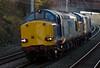 37069 & 37218, 0Z37, Hest Bank, 12 October 2008 - 1533     A Gresty Bridge - Kingmoor move.  Both locos were in compass livery.
