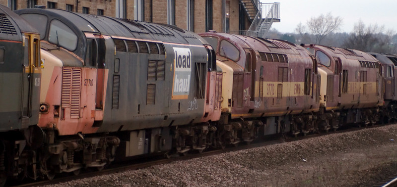 47804, 37668, 37712, 37710 & 47851 Traction Magazine, Mirfield, 28 January 2008 - 1520 5