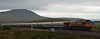 66086, 6S00, Blea Moor, 6 August 2008 - 1859 1    In gathering gloom, EWS's WFO 1711 Clitheroe - Mossend Castle cement train leaves the single-track section over Ribblehead Viaduct...