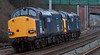 37611 & 37606, 0Z37, Hest Bank, 11 January 2008 - 1521    A Carlisle - Crewe move.