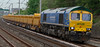 66623 Bill Bolsover, 6P24, Hest Bank, 9 May 2008 - 1544    Freightliner's Bardon blue loco (but NB the green roof) heads the 1358 Shap - Crewe ballast.