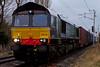 66434, 4M44, Carnforth, 15 January 2009 - 1309    DRS's 0850 Mossend - Daventry Malcolm intermodal.