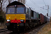 66434, 4M44, Carnforth, 15 January 2009 - 1309    DRS's 0850 Mossend - Daventry Malcolm intermodal.