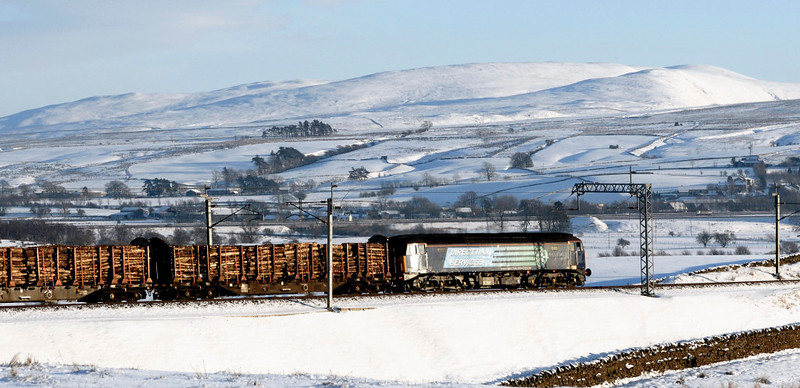 57003, 6J37, Greenholme, Fri 8 January 2010 - 1444      DRS's 1251 Carlisle - Chirk logs.