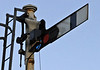 Electric light, down home semaphore, Arnside, Tues 18 January 2011    Arnside's three semaphores had their paraffin lamps replaced at the beginning of January.