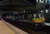 92033, 1S26, Preston, Tues 25 April 2017 - 0328.  The 2350 Euston - Glasgow /  Edinburgh Caledonian Sleeper had arrived at 0323, 26 minutes early.  Note the red headlights.  At this stage it was expected that it would be dragged through the single line working.  In the event this did not happen, but the train did not leave Preston until 0601 125 late because it had had to wait for train crew off delayed 1M11.