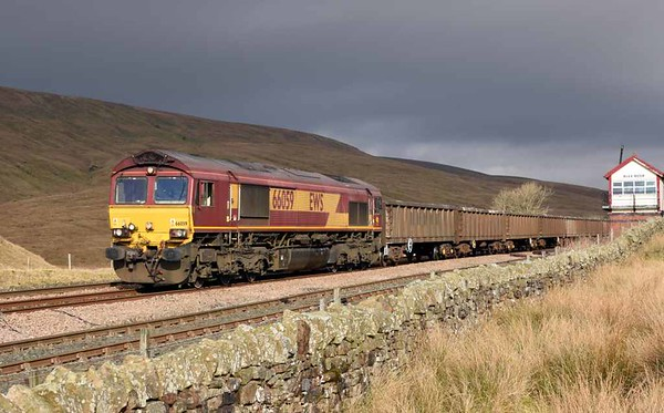 66059, 6E95, Blea Moor, Wed 15 February 2017 - 1127.  DB Cargo's 1044 New Biggin - Hull coal terminal KEA gypsum empties.