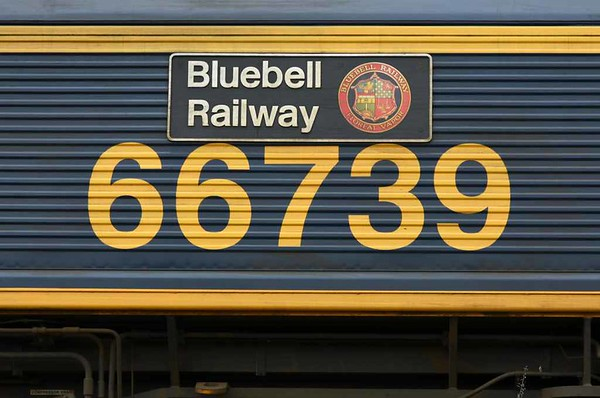 66739 Bluebell Railway, 6M33, Blea Moor, Wed 15 February 2017 5.  The nameplate with the Bluebell's 'Floreat Vapor' (Latin for 'May steam flourish') crest.