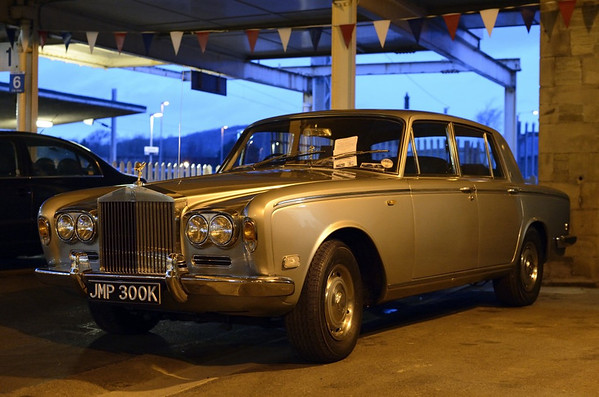 Eric Morecambe's first Rolls-Royce, Carnforth, Sat 13 April 2013.  It is available for chauffeur-driven hire.