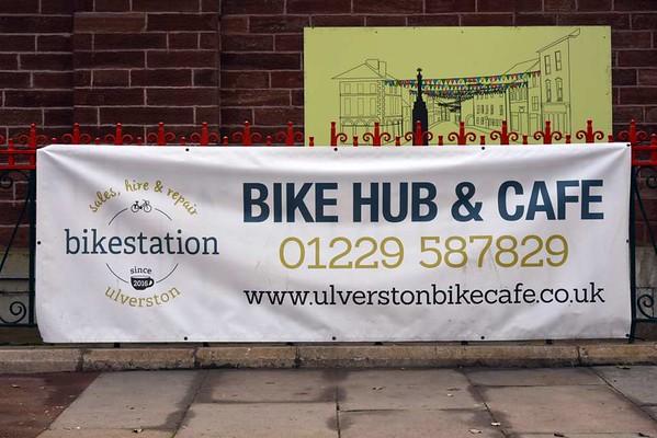 Ulverston station, 14 March 2017 20.  Get on yer bike...