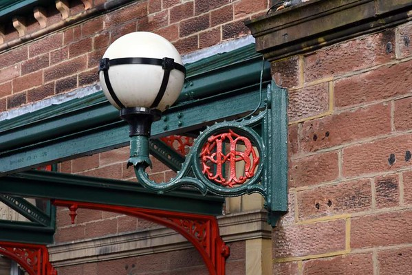 Ulverston station, 14 March 2017 15.  Furness Railway lamp bracket.