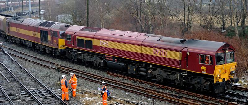 59201 Vale of York & 60096, 6F38, Arpley Junction, Warrington, Thurs 4 February 2010 6 - 1131