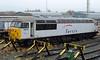 DB Schenker Arpley sidings, Warrington, Thurs 4 February 2010 3    56018 has been dumped in the sidings for months.