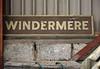 LNWR Windermere station sign, Haverthwaite, 29 April 2017.