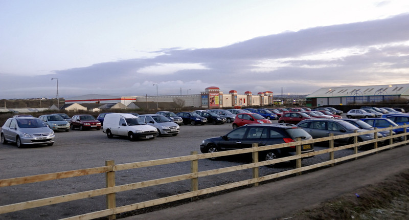 Workington North, 18 December 2009 4    Car park, looking towards Dunmail Park.