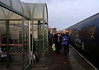 Passengers leaving DRS's 1550 shuttle from Workington, Maryport, 18 December 2009 - 1607