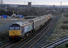 47501 Craftsman & 57004, 2Z33, 18 December 2009 2 - 1530.     The 1510 shuttle from Maryport passes Derwent Junction as it approaches Workington.