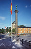 Plaza de Trondheim, columna de Olav Tryggvason