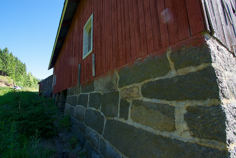 The barn at Brekke Norway. 1830 I would guess it was built.