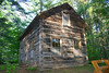 The restored Hallestad Cabin. It's now in Hartman Creek State Park WI. Originally from Scandinavia Township just to the north.