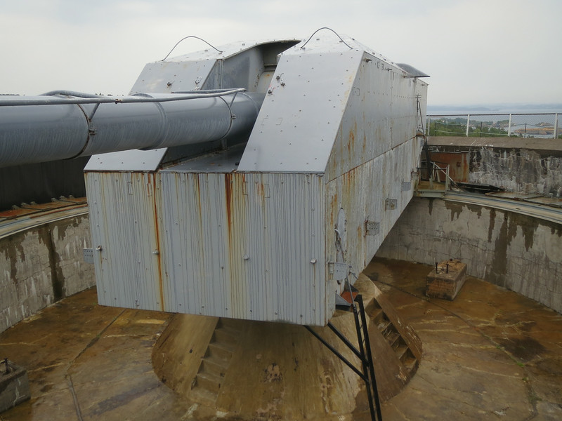 This large gun sits on the out skirts of Kristiansand Norway. The Germans built it during World War II for defensive purposes. It could throw a shell halfway to Denmark.