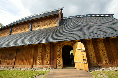 The magnificent Viking Hall at Borre
