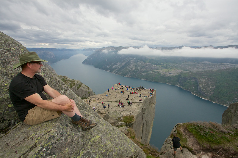 Preikestolen... You can plan on a full day hike to here. It took us 2.5 hours to hike up to this.