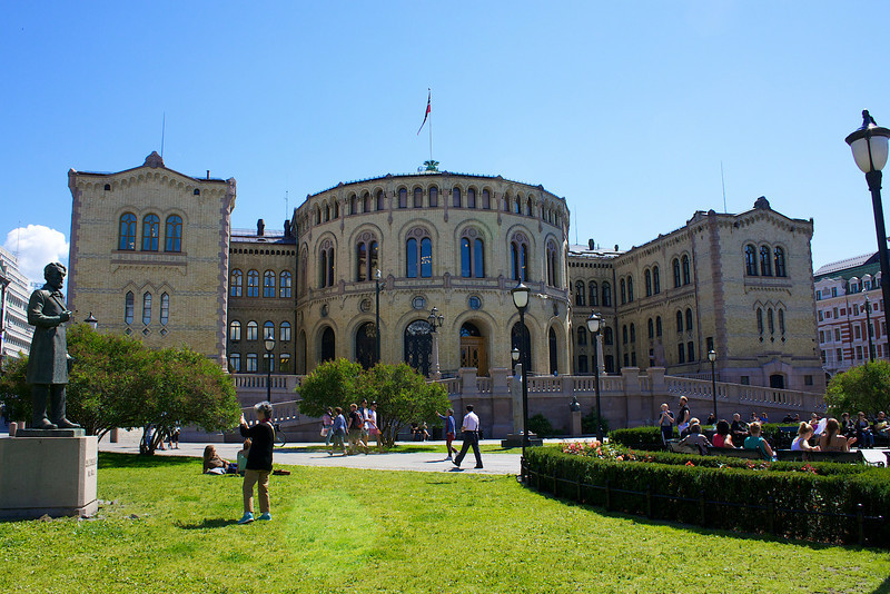The parliament building Oslo Norway.