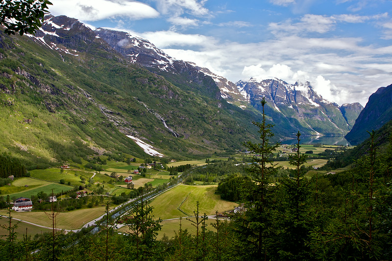 Wen I was in Norway two years ago in 2012, I had one of the most fantastic hikes of my life here. I photographed it from the air on July 10th 2014. Far below...the farm is called Brekke.. unrelated to me.. the word means slope in Norwegian.