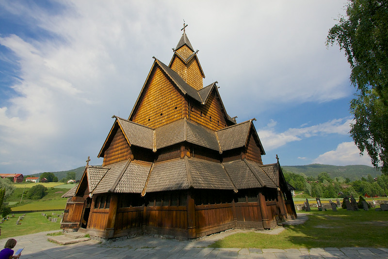 Heddal Stave Church completed by 1250, extensive restoration done in 1952.