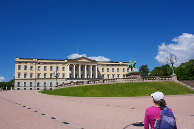 The Royal Palace Oslo. We hit the ground running. Camped at Bogstad for the first night.