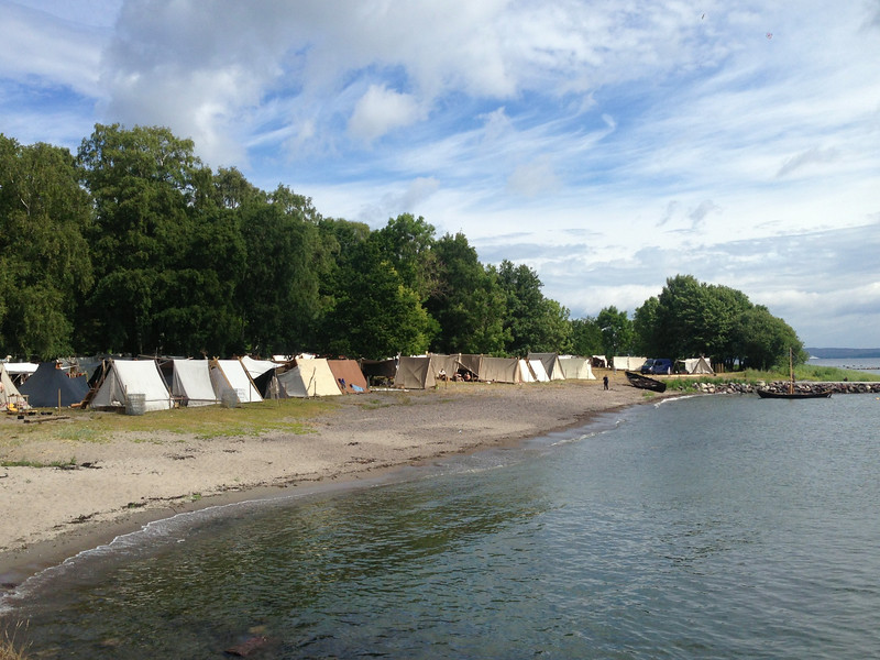 A Viking encampment.