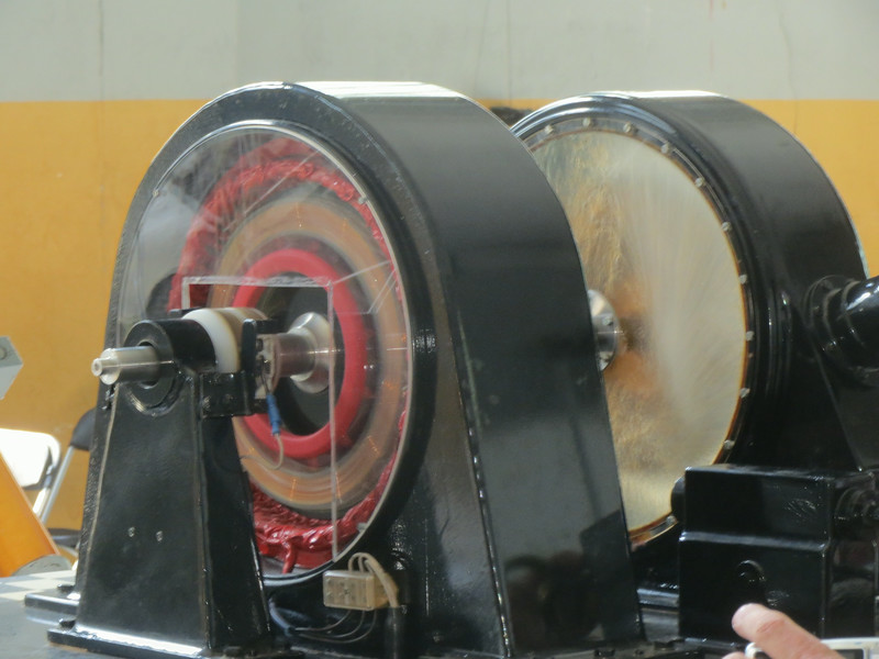 Here is the model turbine generator in action.