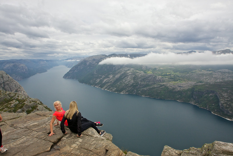 Preikestolen....pretty scary to sit on the edge of this rock!