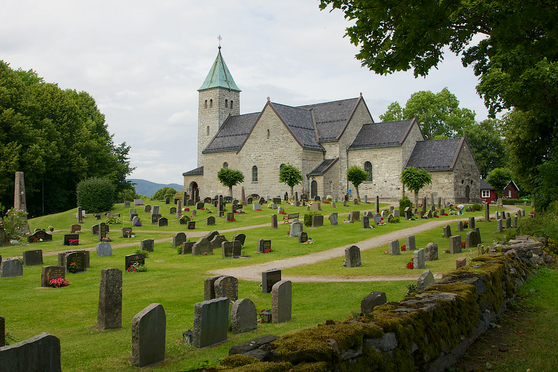 Gjerpen Kirke...this church has been used continually sense 1153 Skien Norway. It has been expanded on many times. But the original stone walls are still there.