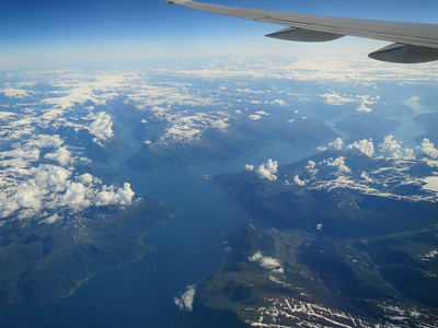 Sognefjorden from the air.