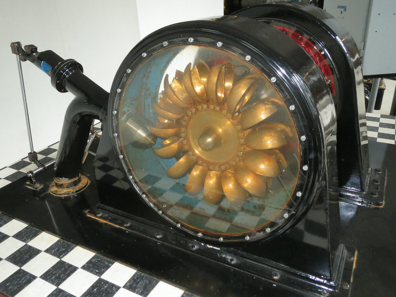 A working model of the turbine.