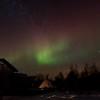 Faint aurora behind the Nordlandshuset