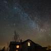 The Milky Way behind the Nordlandshuset