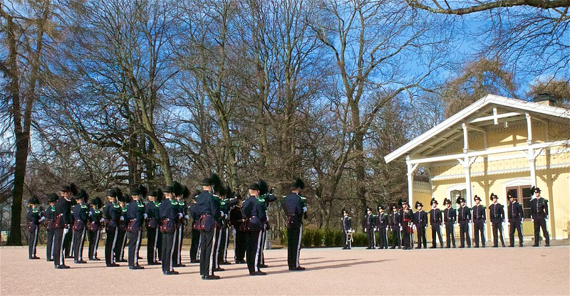 Changing of the guard at the Royal Palace.