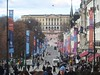 Looking down Karl Johans Gate at the Royal Palace.