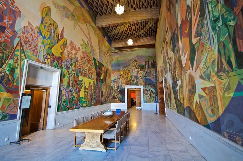 Oslo City Hall. The Storstein Room West Gallery.
