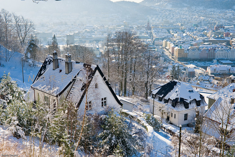 Bergen, winter in Fjellveien