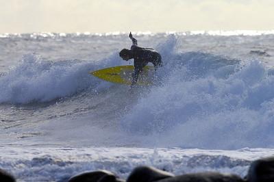 Wellenreiten in Piss Renne