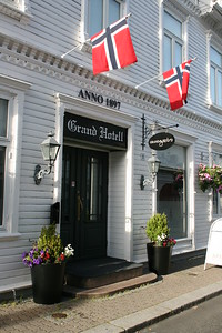 The Grand Hotel where we have stayed when in Flekkefjord