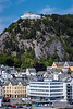 The city skyline of Alesund, Norway, Europe.